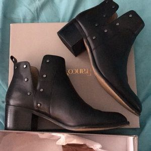 Franco Sarto Shoes - Black studded booties